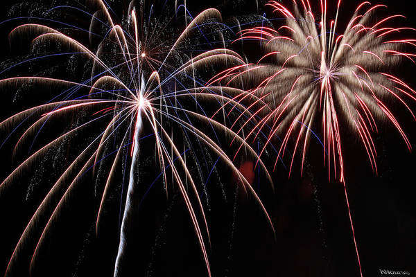 Fireworks Art Print featuring the photograph Fireworks 2 by Andrew Nourse