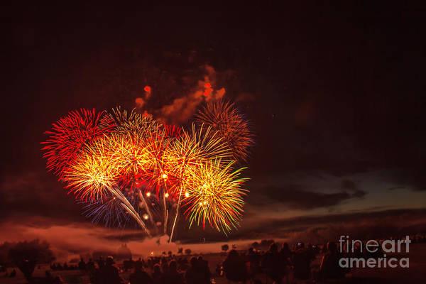 Emmett Art Print featuring the photograph Fireworks Finale by Robert Bales