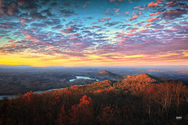 Lake Ocoee Art Print featuring the photograph First Light Over The Ocoee River by Steven Llorca