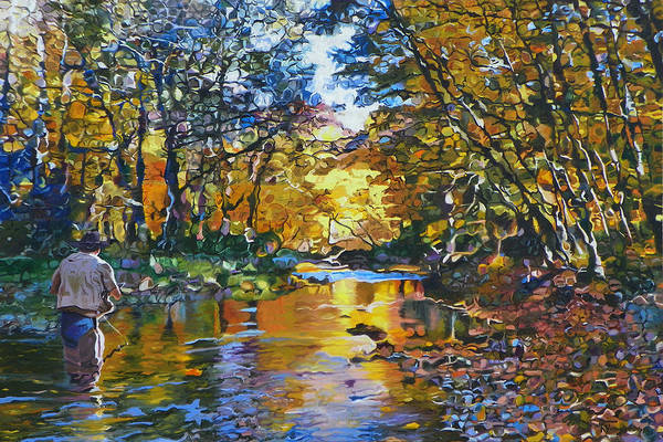 Fishing Art Print featuring the painting Fisherman's Dream by Kenneth Young