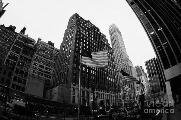 Usa Art Print featuring the photograph Fisheye View Of 34th Street From 1 Penn Plaza New York City by Joe Fox