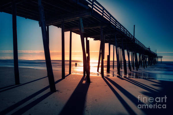 Outer Banks Art Print featuring the photograph Fishing At Frisco Outer Banks by Dan Carmichael
