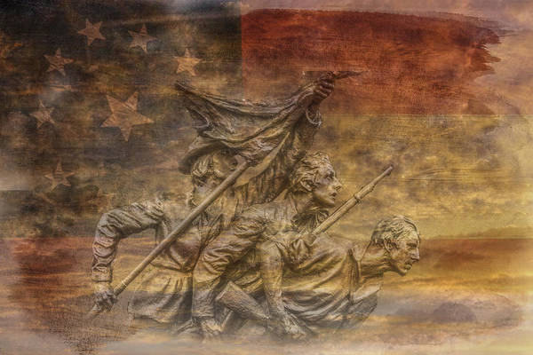 Flag Of Our Confederate Fathers Art Print featuring the digital art Flag Of Our Confederate Fathers by Randy Steele