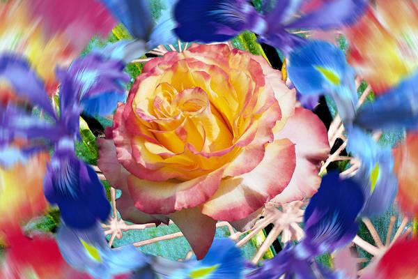 Flowers Art Print featuring the digital art Flower Dance 2 by Lisa Yount