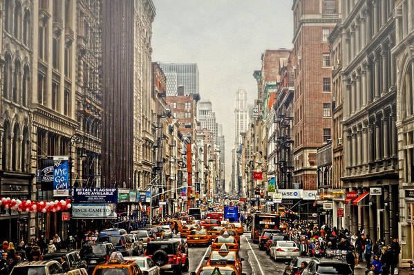 Nyc Art Print featuring the photograph Foggy Day In The City by Kathy Jennings