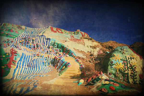 Salvation Mountain Art Print featuring the photograph Follow The Yellow Brick Road by Laurie Search