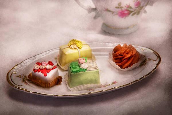 Cake Art Print featuring the photograph Food - Sweet - Cake - Grandma's Treats by Mike Savad