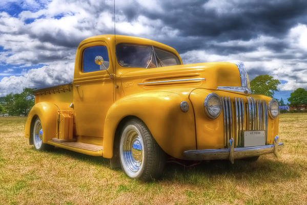 Ford Pickup Print featuring the photograph Ford Jailbar Pickup Hdr by Phil 'motography' Clark