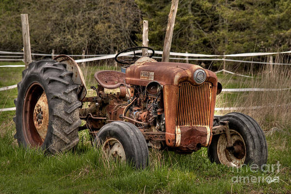 Ford Print featuring the photograph Ford Tractor by Alana Ranney