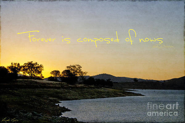 Quote Print featuring the photograph Forever Is Composed Of Nows by Linda Lees