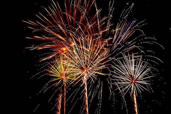 July 4th Art Print featuring the photograph Fourth Of July Fireworks by Saija Lehtonen