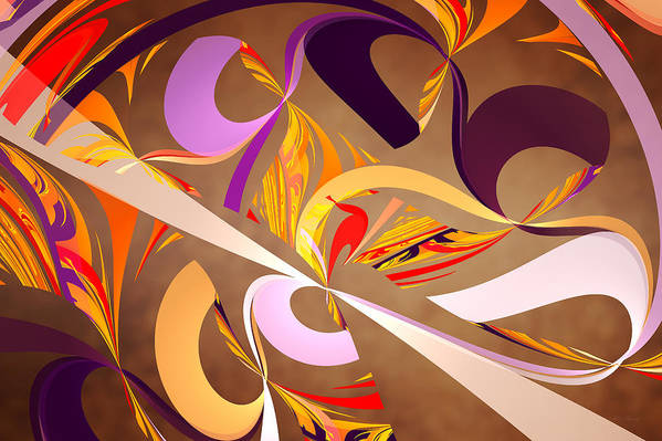 Abstract Art Print featuring the digital art Fractal - Abstract - Space Time by Mike Savad