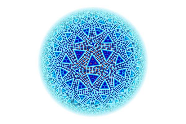 Escher Art Print featuring the digital art Fractal Escher Winter Mandala 5 by Hakon Soreide