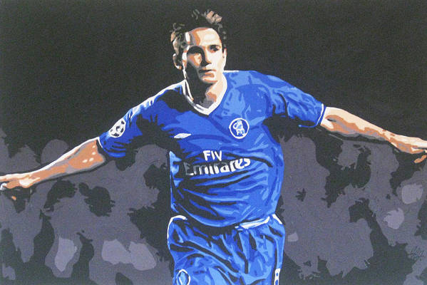 Frank Lampard Art Print featuring the painting Frank Lampard - Chelsea Fc by Geo Thomson