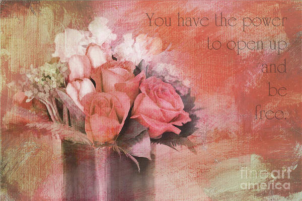 Flowers Art Print featuring the photograph Freedom Flowers by Jayne Carney