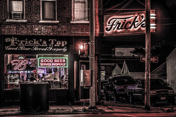 Cityscape Art Print featuring the photograph Frick's Tap by Ray Congrove