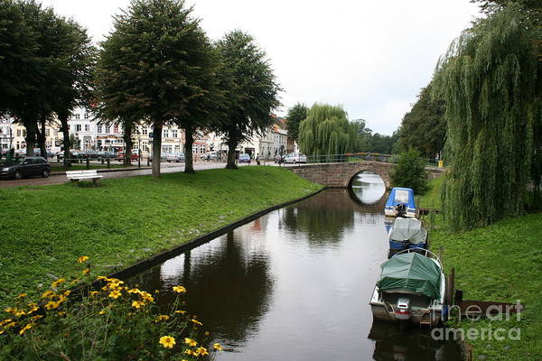 Town Canal Art Print featuring the photograph Friedrichstadt - Germany by Christiane Schulze Art And Photography