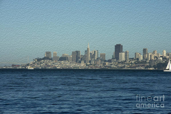 Sausalito Art Print featuring the photograph From Sausalito by David Bearden