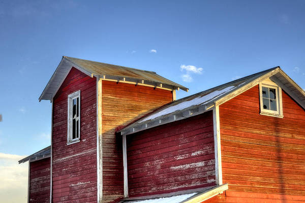 Ft Art Print featuring the photograph Ft Collins Barn Sunset 13505 by Jerry Sodorff