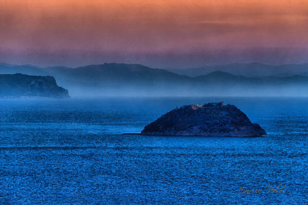 Gallinara Island Art Print featuring the photograph Gallinara Island Sunset Hour by Enrico Pelos