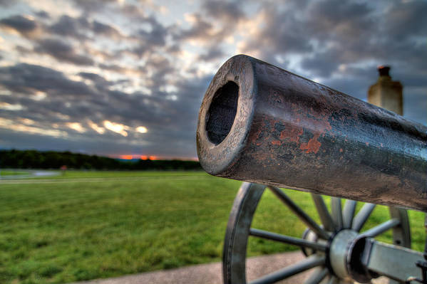 Abraham Art Print featuring the photograph Gettysburg Canon Closeup by Andres Leon