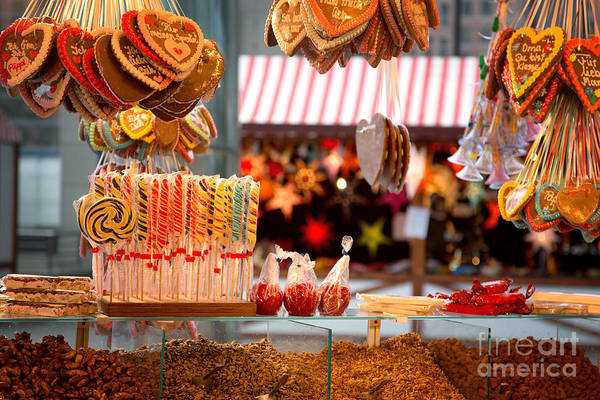 Market Art Print featuring the photograph Gingerbread And Candies by Jane Rix
