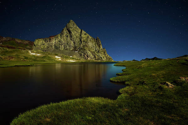 Night Art Print featuring the photograph Glacier Anayet by David Mart?n Cast?n