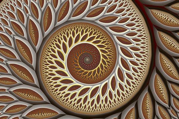 Abstract Art Print featuring the digital art Glynn Spiral No. 2 by Mark Eggleston