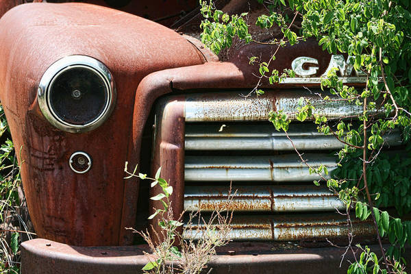 Gmc Art Print featuring the photograph Gmc Grill Work by Kathy Clark
