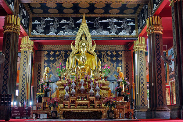 3scape Photos Art Print featuring the photograph Golden Buddha by Adam Romanowicz