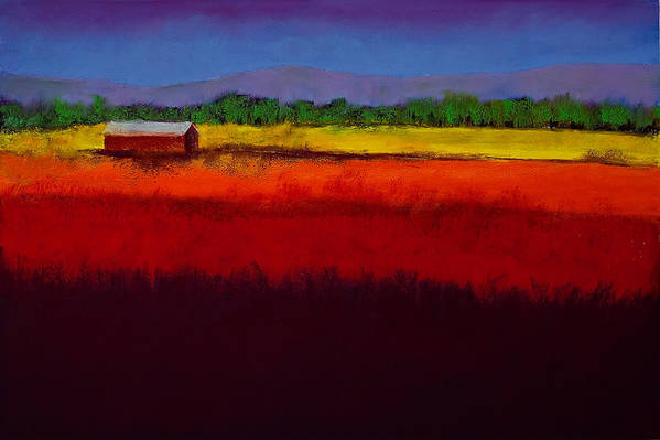 Golden Field Art Print featuring the painting Golden Field by David Patterson