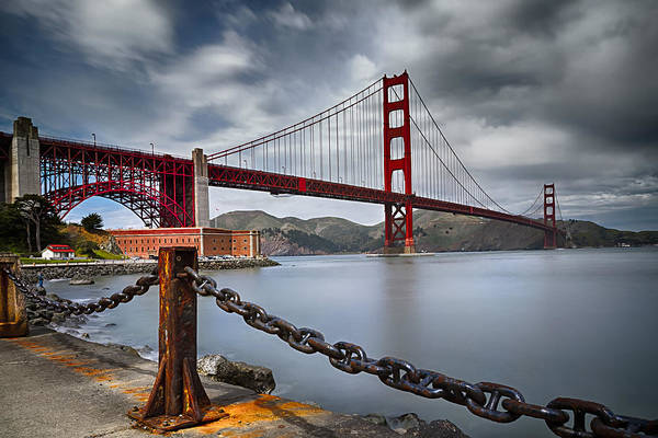 California Art Print featuring the photograph Golden Gate Bridge by Eduard Moldoveanu