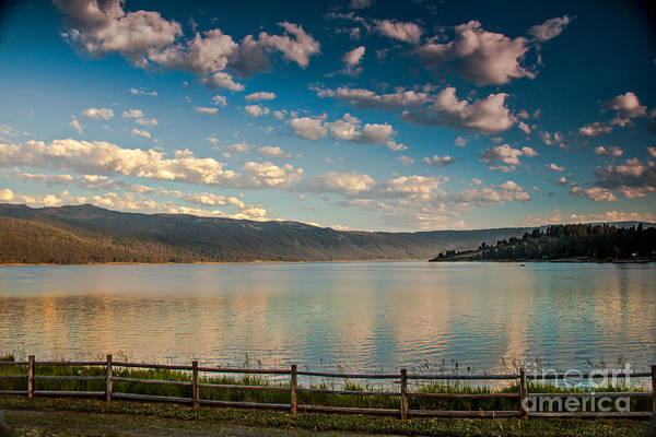 Idaho Art Print featuring the photograph Golden Reflection On Lake Cascade by Robert Bales
