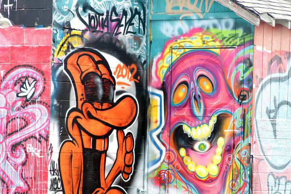 Graffiti Art Print featuring the photograph Graffiti 10 by Tera Bunney