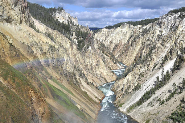 Clouds Art Print featuring the photograph Grand Canyon Of The Yellowstone by Frank Burhenn