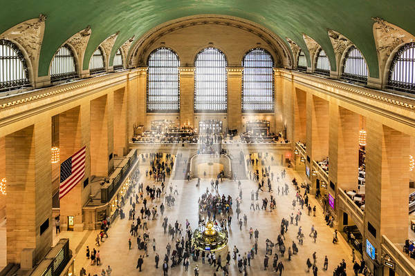 New York City Art Print featuring the photograph Grand Central Terminal Birds Eye View I by Susan Candelario