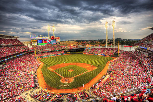 Cincinnati Reds Art Print featuring the photograph Great American Ballpark by Shawn Everhart