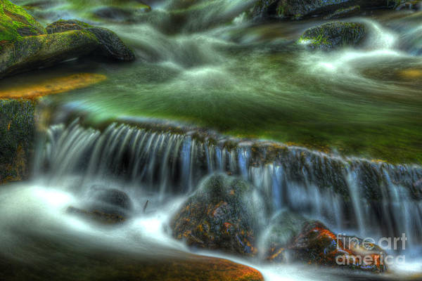 Ricketts Glen Art Print featuring the photograph Green Waters by Paul W Faust - Impressions of Light