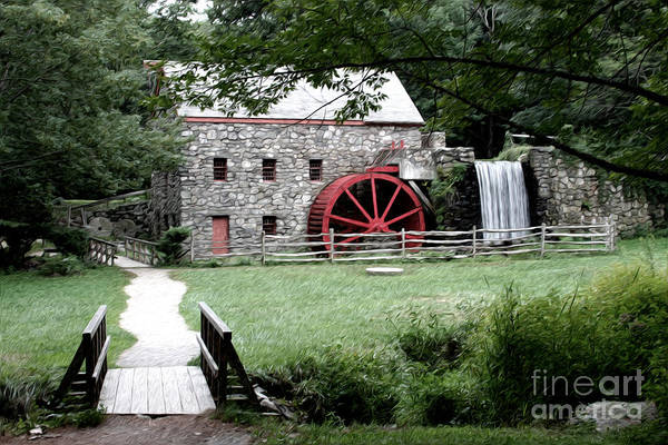 Gristmill Art Print featuring the photograph Gristmill Art by Jayne Carney