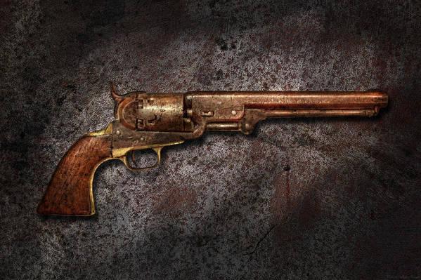 Gun Art Print featuring the photograph Gun - Colt Model 1851 - 36 Caliber Revolver by Mike Savad