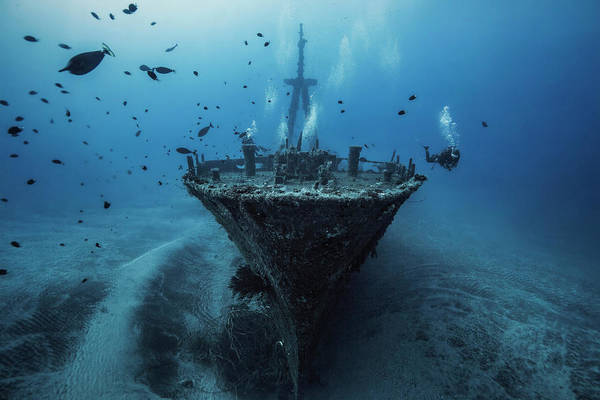 Underwater Art Print featuring the photograph Hai Siang Wreck by Barathieu Gabriel
