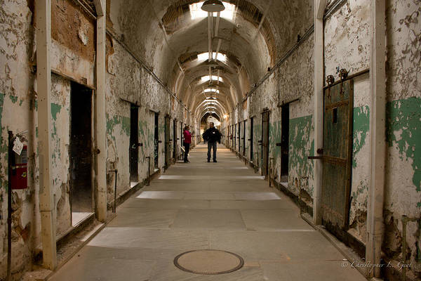 Eastern State Penitentiary Art Print featuring the photograph Hallways by Chris Gent