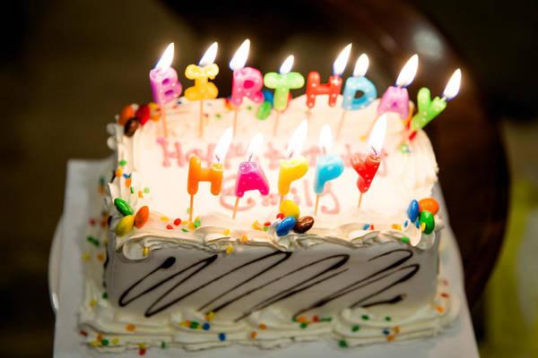 Happy Birthday Cake Art Print by Jessica Holden Photography
