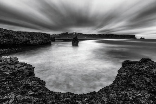 Iceland Art Print featuring the photograph Hard Wind by Jorge Ruiz Dueso