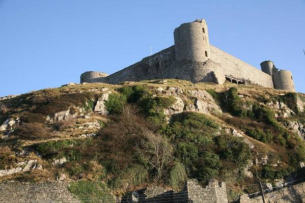 Castles Art Print featuring the photograph Harlech Castle by Christopher Rowlands