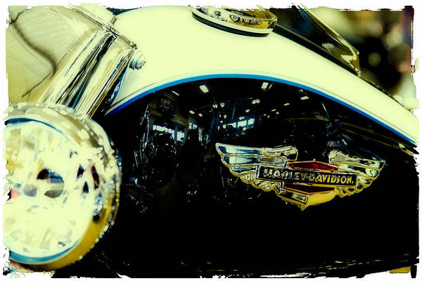 Classic Cycle Art Print featuring the photograph Harley Hog by David Patterson