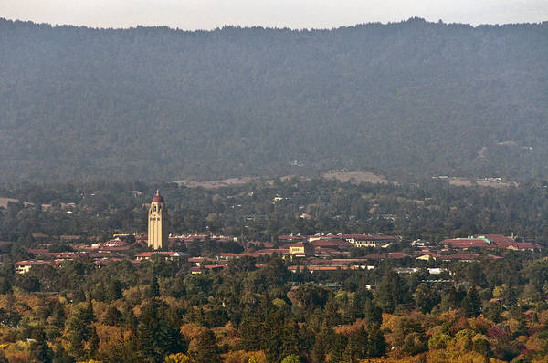 Stanford University Art Print featuring the photograph Hazy Autumn Day At Stanford University by Scott Lenhart