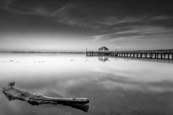 Sunrise Art Print featuring the photograph Hinode In Mono by Edward Kreis
