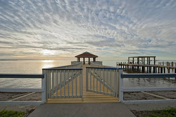 Pier Print featuring the photograph His Mercies Begin Fresh Each Morning by Bonnie Barry