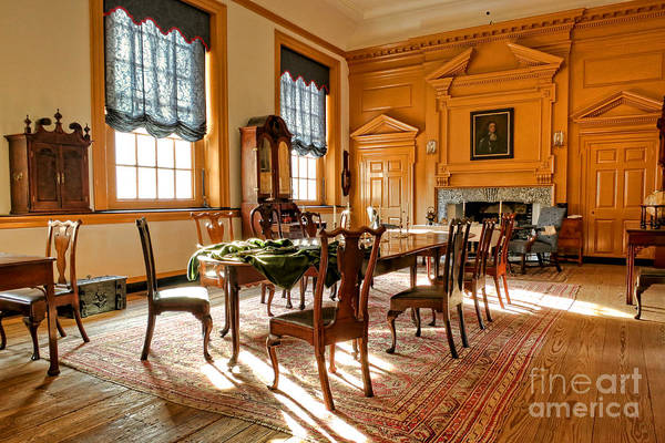 Philadelphia Art Print featuring the photograph Historic Governor Council Chamber by Olivier Le Queinec